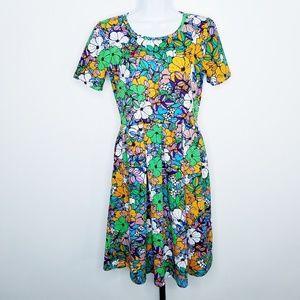 🦄 LuLaRoe Multi-Color Floral Amelia Dress Small